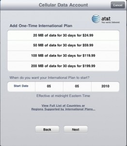 AT&T International Data Plans